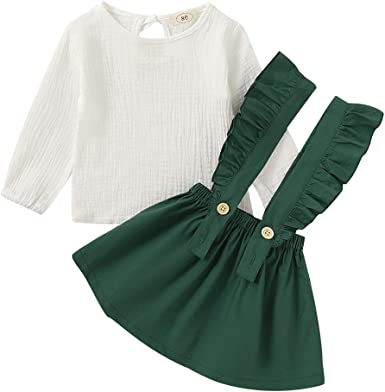 DaMohony Camisa algodón Lino para niña de Manga Larga Falda ...