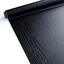 Homein Vinilos para Muebles Negro, Papel Pintado Autoadhesivo, Vinilos Cocina/Pared/Armario/Baño, Papel Adhesivo Impermeable y a Prueba de Polvo, PVC Rollo 30x200cm