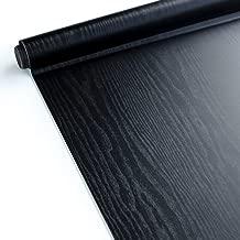 Lederoptik Folie Schwarz 300cm x 152cm Selbstklebende mit Luftkanäle