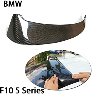 QCWY Car Rear Roof Boot Lip Wing Spoiler For BMW F10 5 Series 520 523 535 2010-2016 Carbon Fiber CF Rear Trunk Boot Lip Wing Spoiler