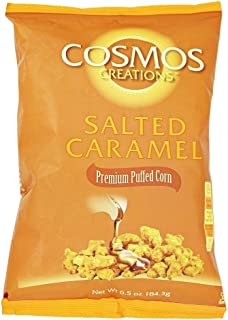 Premium Puffed Corn - Salted Caramel Popcorn Without Hulls - Gluten-Free Snack - 6.5 Ounces Each Bag (Pack of 12)