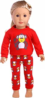 Ocamo Pijama de la historieta de la moda para muñeca Barbie de 18 pulgadas para la muchacha