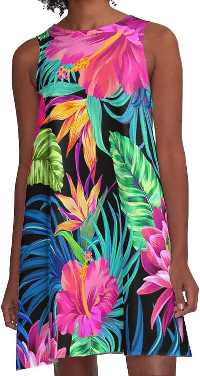 Reshe Women's Dresses Sleeveless Pockets Casual Swing T-Shirt Summer Dresses