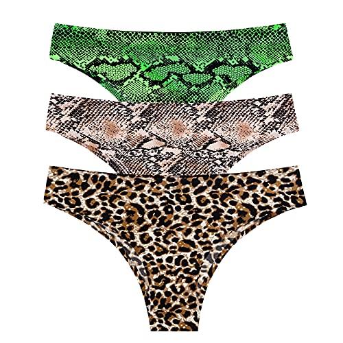 BTDG Women's Seamless Underwear Panties Soft Stretch Hipster Bikini Underwears 3-Pack
