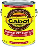 Cabot 1801-07 Decking Stain, 1 gallon, White
