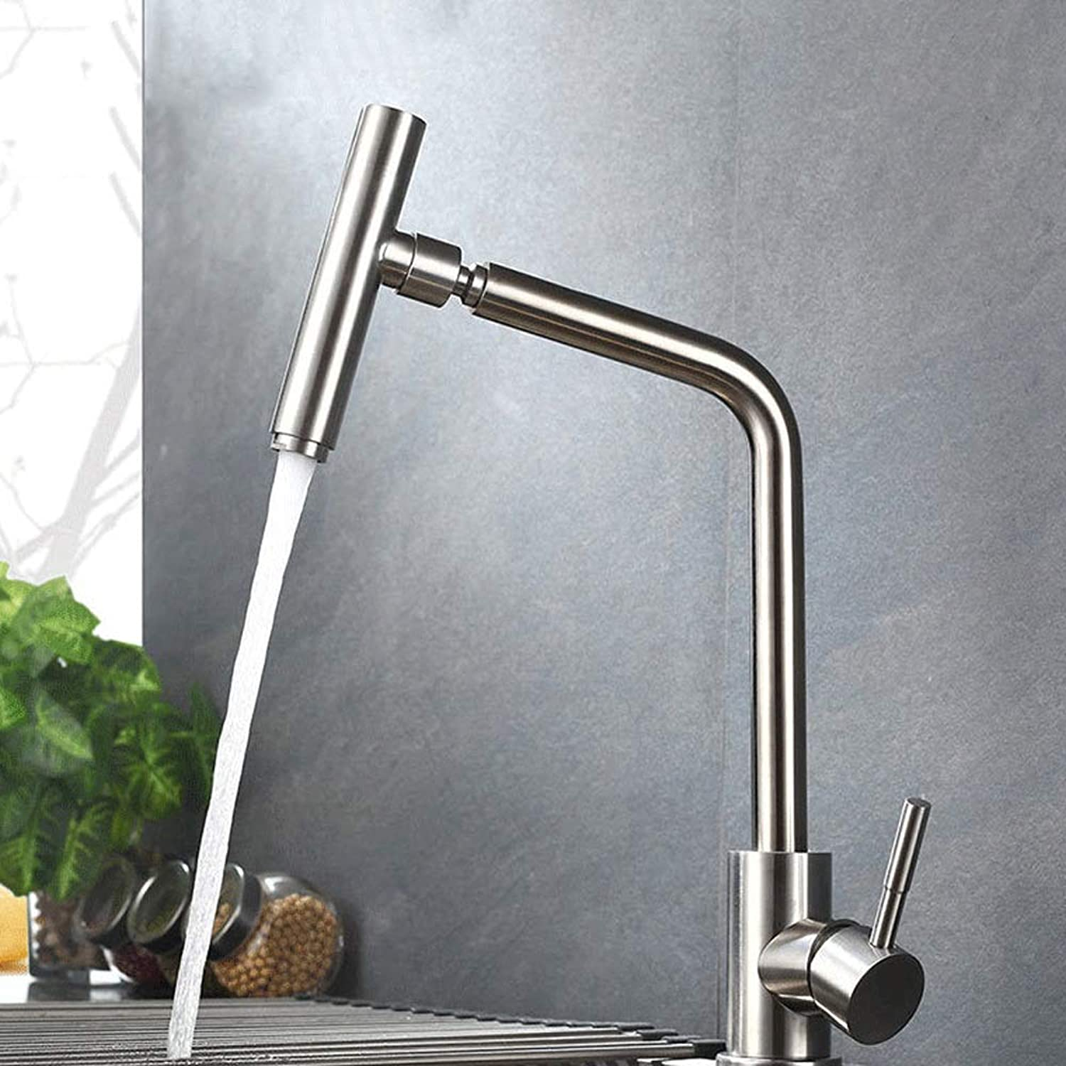 Modenny Kitchen redating Hot And Cold Tap Brushed Sink Faucet Bathroom Hot And Cold Water Mixer Tap Wash Basin Sink Hot And Cold Water Faucet