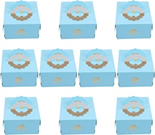 BESTOYARD Portable Cake Box Individual Cupcake Boxes Portable Single Paper Cake Holder Storage Box Containers Muffin Gift ...
