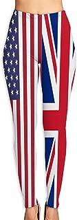 America and UK Flag Pattern Yoga Pants Soft Lightweight Leggings Women Casual Running Pants