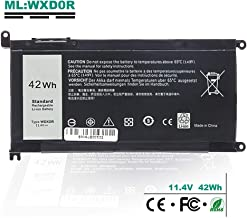 WDX0R Battery Replacement for DELL T2JX4 Y3F7Y 3CRH3 FC92N WDXOR Inspiron 15 13 5000 7000 Series 15 5570 7570 5565 5567 5568 5578 5580 7560 7569 7579 13 5368 5378 5379 7368 7378 42Wh 11.4V 4Cell