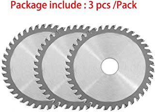 Highgradelife 3 Pieces 4-1/2-inch Circular Saw Blade 40 Tooth Alloy Steel TCT Wood Plastic Cutting Saw Blade with 7/8-inch Arbor (4.5