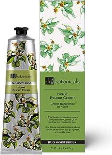 Dr Botanicals Vegan Neroli Rescue Hydrating Cream Coconut Oil Anti Aging Day & Night Moisturizer 50ml for All types of Ski...