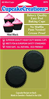 Cupcake Creations Black Mini Baking Cup, Set of 60