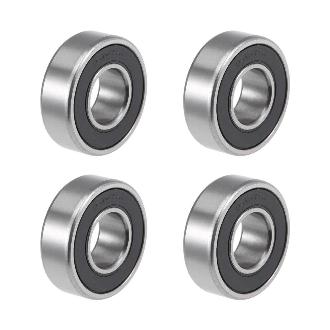 uxcell 1616-2RS Deep Groove Ball Ranking TOP7 8-inchx3 100% quality warranty 1 8 Bearing 2-inchx1-1