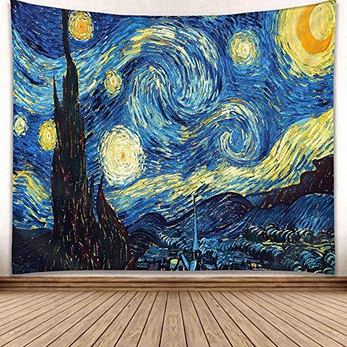 Wimaha Wandteppich Hochwertige Wandbehang Tapisserie Van Gogh Wandtuch Hausdeko(200 * 150cm)