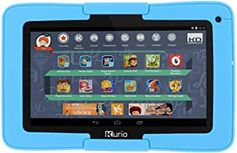 $97 Get Kurio 96405 Android OS Parental Content Conrol Xtreme Kids Tablet, Black with Blue Bumper (Certified Refurbished)
