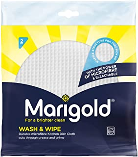 Marigold Wash and Wipe Kitchen Cloth, 12 Packs of 2 Cloths
