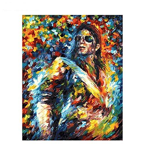 Diy Olieverf Cross Stitch Kitschilderen Op Nummer Voor Volwassenen Diy 60X75Cm Acrylverf In Lijst Op Canvas Kamerdecoratie Digitaal Schilderen