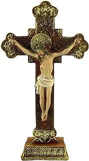 Catholic Brands Jesus Christ on Cross Ornate Style Standing Crucifix 8 Inch