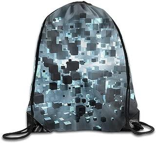 cleaer Unisex Gym Drawstring Shoulder Bag 3D Cubes Trippy ...