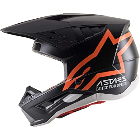 S-M5 COMPASS HELMET ECE/DOT (L, BLACK ORANGE FLUO MATTE)