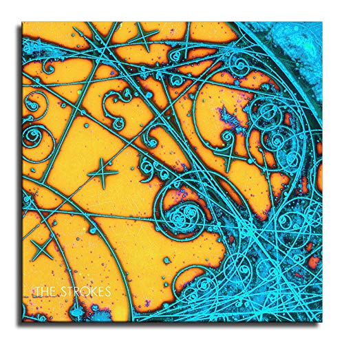 The Strokes Is This It Poster,Canvas Wall Art Oil Painting for Bedroom Living Room Home Decor (Framed,20x20inch)
