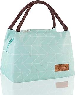HOMESPON Sac Isotherme à Repas Portable Lunch Bag à Déjeuner Waterproof avec Feuille d'Aluminium Isolée Sac à Main Pliable...