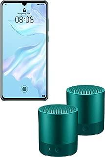 Huawei P30 SIMフリースマートフォン (スマホ+スピーカー2個セット, ブリージングクリスタル)