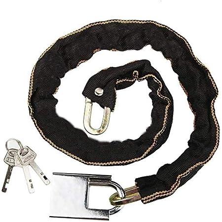 EUROXANTY® Candado de Cadena de Acero al Manganeso para Bicicletas, Scooter y Motos | Candado Resistente Antirrobo | Cadena de Seguridad | 4 Modelos a elegir | 5 mm grosor