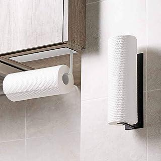 Paper Towel Holder Wall Mounted No Drilling, Paper Towel Holder Under Cabinet, Toilet Roll Holder Self Adhesive, Towel Han...
