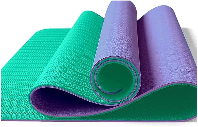 SGLI Tapis de Yoga Double Face Anti-dérapant réversible antidérapant TPE Tapis de Sport de Plein air pour Tapis Pilates Tapis de Yoga (Couleur   C)