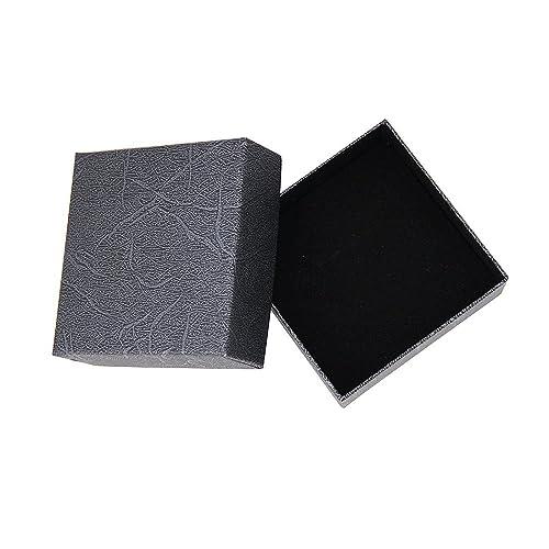 6dda86a7bfa Jewellery Presentation Gift Box Storage Case with Soft Cushion for Earring  Ring Bracelet Pendant Necklace Black