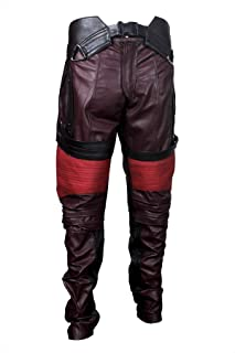 Mens Star Guards of Space Quill Distressed Maroon Leather Jacket Galaxy Jacket Superhero Costume