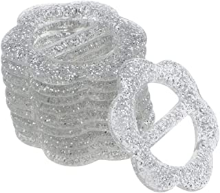 Baoblaze 10Pcs Glitter Waist Buckles Silder Buckles For Garment Ribbon Belt Scarf