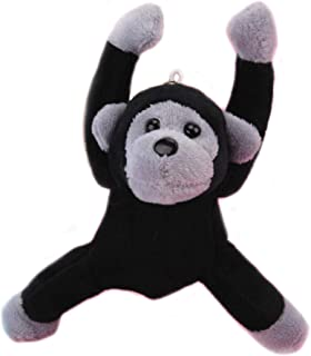Plush Gorilla Keychain Orangutan Stuffed Animal Toys Key Chains Dolls Ornaments Pendant Black