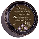 Cottage Garden Some People Leave an Impression Black Rope Trim Petite Round Jewelry and Keepsake Box