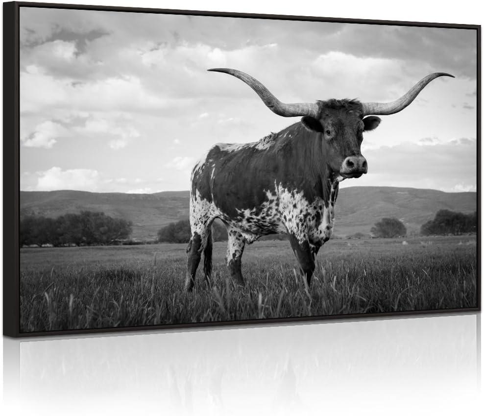 Choice Visual Art Decor XLarge Animals OFFicial Canvas Longhorn Texas Wall G