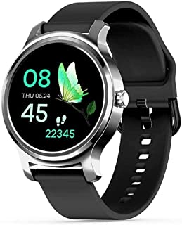 hwbq Smart Horloge 1.28-inch High-Definition Ronde Scherm Ip67 Waterdichte Bericht Herinnering Multi-Sports Armband Zilver...