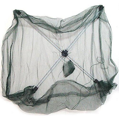 Ainstsk Tragbarer Faltbarer Fischernetz, Kescher, Netzfalle für Fisch, Garnelen, Minnow Crayfish Crab