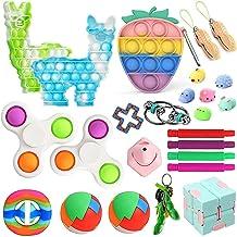 Dan&Dre 25Pcs Fidget Stress Relief Toy Set Sensorial Brinquedo Espremer Bolha Brinquedos para As Crianças E Adultos Com TD...