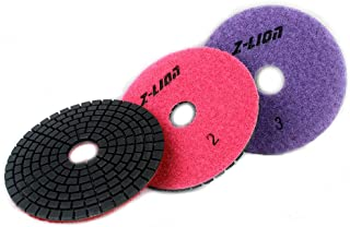 Z-Lion Dimoand 3 Step Polishing Pad 4 inch Abrasive grinding wheel for Granite Marble Engineered stone