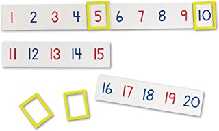 Learning Resources Magnetic Number Line 1-100, 20 Magnets, Classroom Accessories, Teacher Aids, Sets of 5 Magnets, Ages 3+