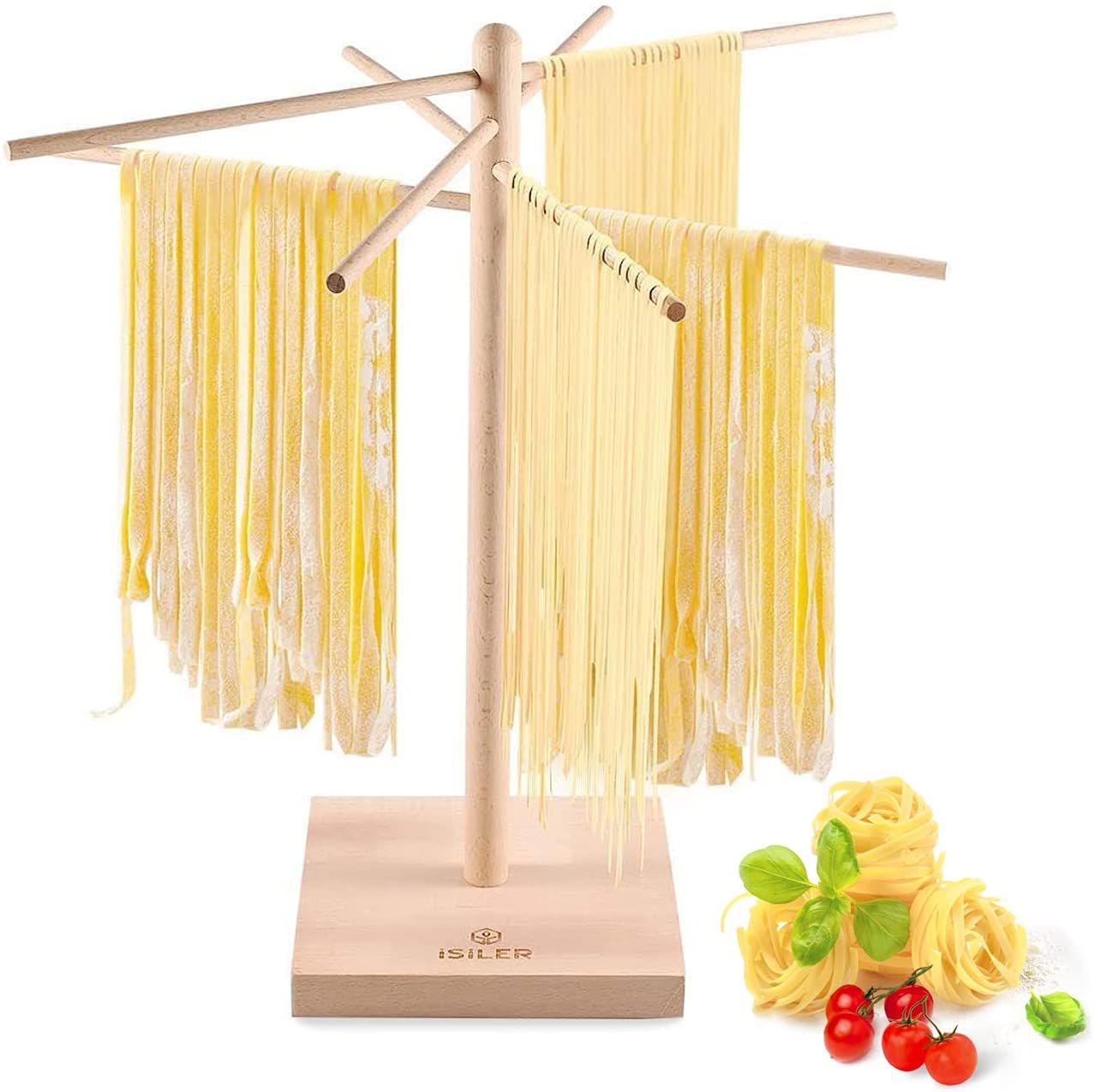 iSiLER Natural Beech Wood Pasta Oakland Mall Albuquerque Mall Spaghetti and Rack Drying