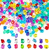 Syhood 400 Pieces Fake Crushed Ice Rock Acrylic Ice Cubes Crystals Fake Diamond Decoration Plastic Ice Cubes Gems Vase Fillers for Wedding Event Decoration Arts and Crafts (Multi-Color)