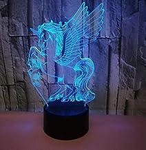 Pegasus SFALHX 3D Nachtlampje, Illusion Lamp voor Jongens, 16 Kleuren Dimbare USB Powered Touch Control met Afstandsbedien...
