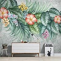 現代の手描きの熱帯植物花鳥3d壁紙リビングルーム寝室自己接着家の装飾ウォールステッカー