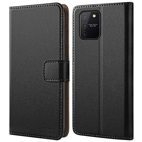 HOOMIL Handyhülle für Samsung Galaxy S10 Lite Hülle, Premium Leder Flip Schutzhülle für Samsung Galaxy S10 Lite Tasche - Schwarz