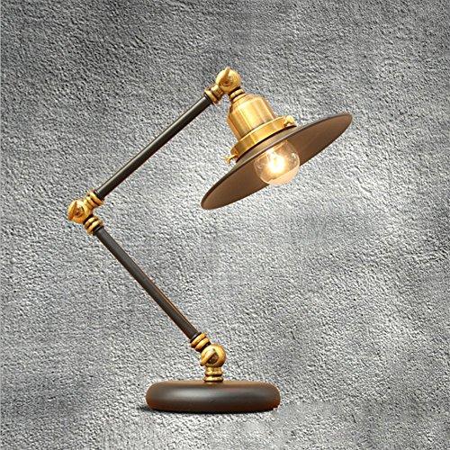 OOFAY LIGHT Lampada da Tavolo A LED Stile Americano Nero con Braccio Girevole Regolabile Lampada da Scrivania