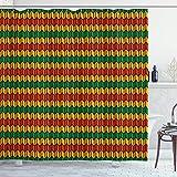 vrupi Geometrische Triangel Inspiration geformt Bunting Art gedruckt Polyester wasserdichtes GewebeInklusive 12 Kunststoffhaken 71 x 71 Zoll für Kinderzimmer Dekoration