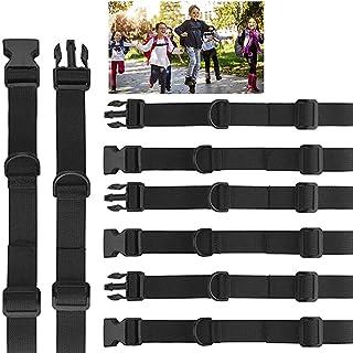 4 correas de esternón, arnés de pecho con hebilla, correa ajustable para mochila para niños, mochila escolar, senderismo y trotar, color negro