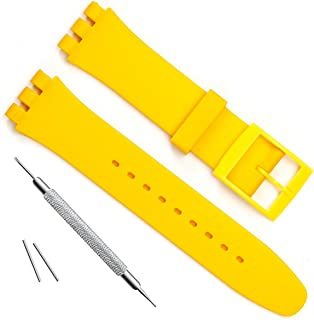 yellow rubber watch band